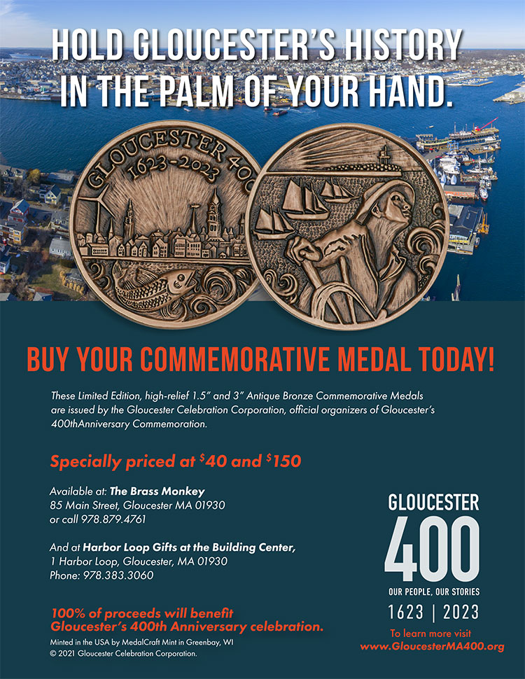 front and back of commemorative medal